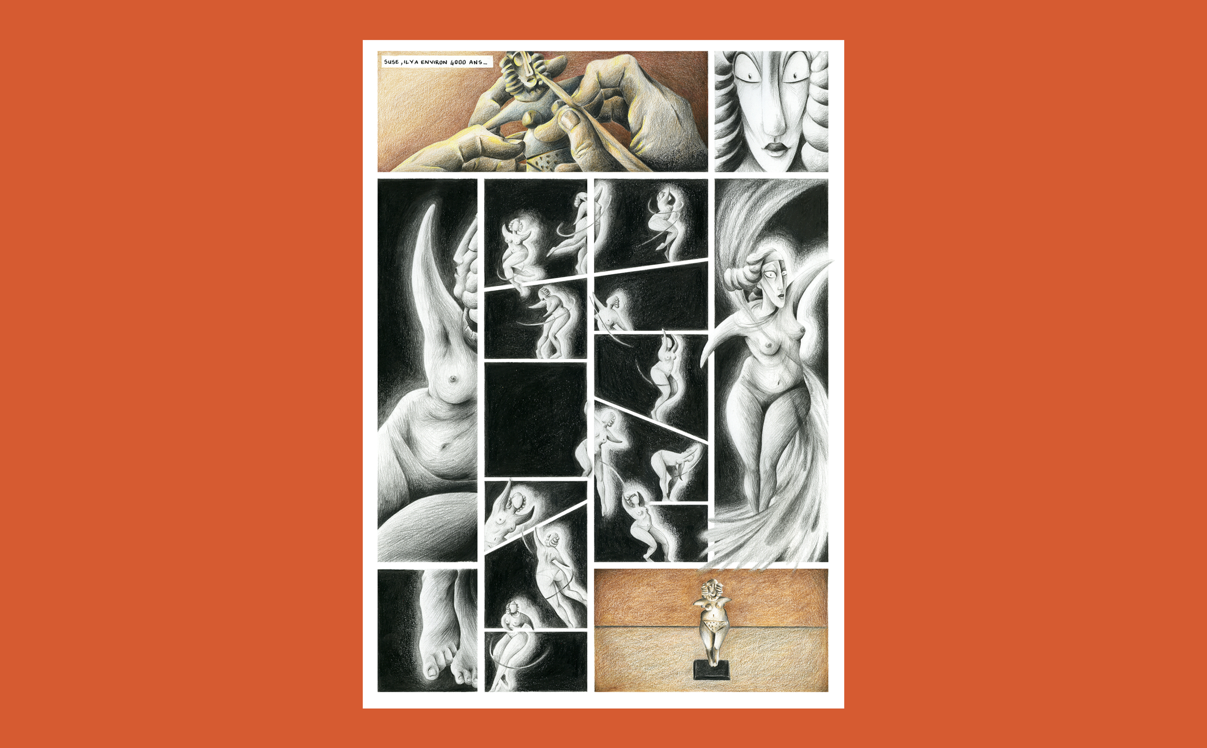 Susette the dancing statuette, short comic for the Louvre Museum