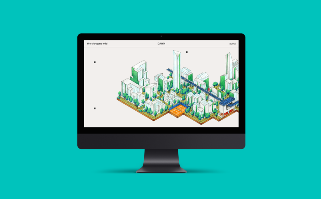 The City Gone Wild, interface simulation