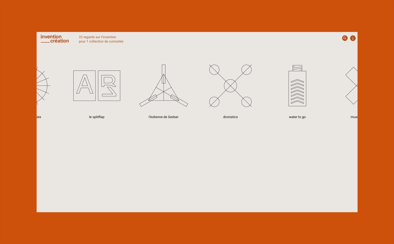 Invention-Création, website design