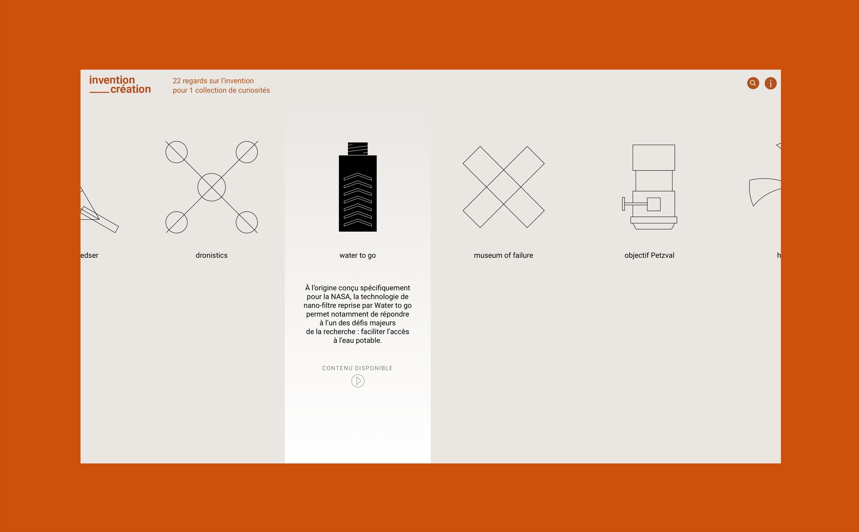 Invention-Création, website design.